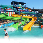 2 People / 1 People Aqua Park Equipment Fiberglass Water Slides 12 M Height
