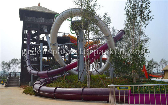 Fiberglass Mini Slide Aqua Park Equipment For Amusement Park SGS Certificate