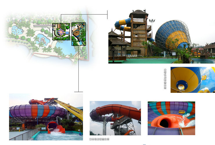 Holiday Scenic Super Bowl Water Slide / Aqua Park Slide Anti UV and Safety 6 - 8mm Thickness