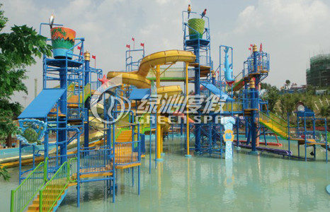 Commercial Large Water House Kids Water Playground For Aqua Park Summer Entertainment