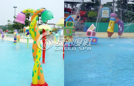 S Shaped Spray Water Pool Aqua Play Equipment for Commercial Fiberglass Water Pool Toys