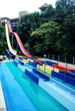 Speed Fiberglass Water Slides Outdoor for Thrilling Water Playground Equipment